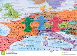 Map Of Western Europe by Map Of The Western Europe European Union Stability Concept Stock