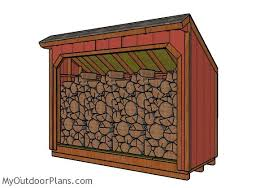 Free Firewood Shelter Plans by 4x10 Firewood Shed Plans Myoutdoorplans Free Woodworking Plans