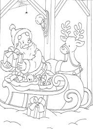 printable coloring pages christmas elves preparing some presents