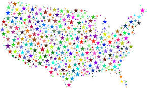 Unite States Map by Clipart United States Map Prismatic Stars