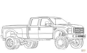 2012 ford f350 dually lifted coloring page free printable