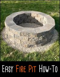 Ideas For Fire Pits In Backyard by This Is Probably The Easiest Fire Pit Project We U0027ve Ever Come