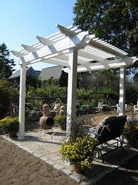Custom Gazebo Kits by Quaint Low Maintenance Vinyl Pergola Kit And Shade Structure