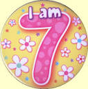 7th Birthday Badge Flowers | 7th Birthday Party Supplies