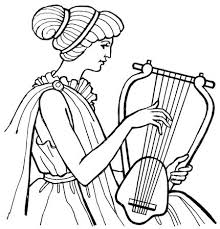 harp coloring page 22 best ancient greece coloring book images on pinterest