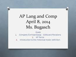 Writing Workshop Writing a Compare Contrast Essay Assignment     SlidePlayer