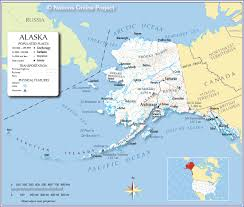 Political Map Of United States And Canada by Reference Map Of Alaska Usa Nations Online Project