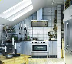 stainless steel commercial kitchen cabinets red ceramic tile floor