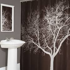 amazon com tree shower curtain chocolate 70x72