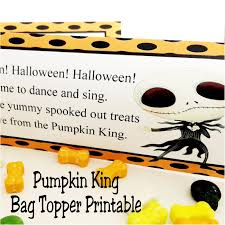 Printable Halloween Bags The Pumpkin King Halloween Bag Topper Printable Everyday Parties