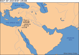Syria Maps by Map Of Ancient Aram Syria Bible History Online