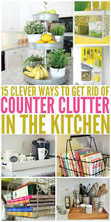 15 clever ways to get rid of kitchen counter clutter glue sticks 15 clever ways to get rid of kitchen counter clutter organisation ideaskitchen organizationkitchen storagestorage