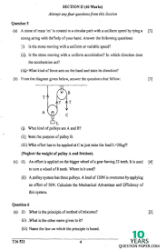 icse 2016 physics science paper 1 class x 10 years question paper