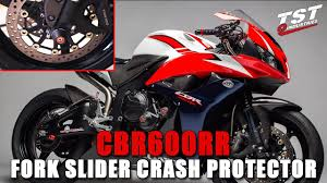 how to honda cbr 600rr fork slider crash protector installation