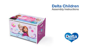 Minnie Mouse Toy Box Delta Children Toy Box Assembly Video Youtube
