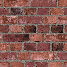 Fake Exposed Brick Wall A Fantastic Alternative The Wallpaper Company 56 Sq Ft Red