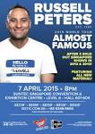 RUSSELL PETERS BRINGS ALMOST FAMOUS WORLD TOUR TO SINGAPORE.