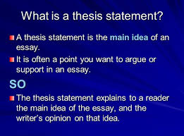 Tips on Writing a Good Thesis Statement at the Middle School Level     FAMU Online Writing an Effective Thesis Statement   This video quickly illustrates the components of a thesis statement