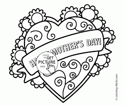 mother u0027s day coloring page for kids coloring pages printables