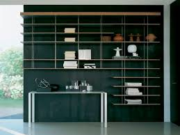 Modern Contemporary Bookshelves by Contemporary Wooden And Metal Bookcase Graduate By Jean Nouvel