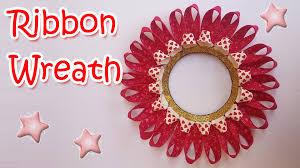 Christmas Decorations Diy by Diy Ribbon Wreath Ana Diy Crafts Christmas Decorations Youtube