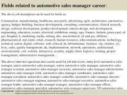 car sales manager job description   Template Template   Just another WordPress site car sales manager job description