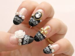 nail art stock photo golden nail art manicure holiday style