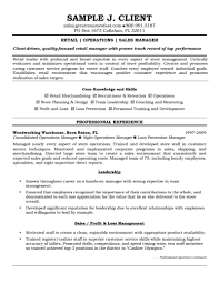 retail manager resume sample J  Client