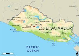 Centro America Map by Map Of El Salvador Central America