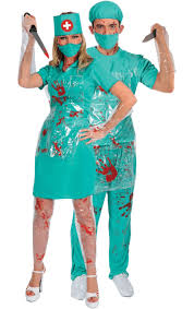 Joker Nurse Costume Halloween Bloody Nurse U0026 Surgeon Combination Jokers Masquerade