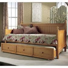 Palliser Alula Casey Wood Trundle Daybed In Honey Maple Humble Abode