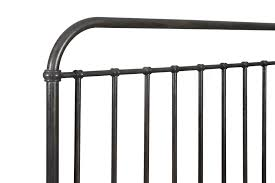 industrial revival style king size metal bed by magnussen home