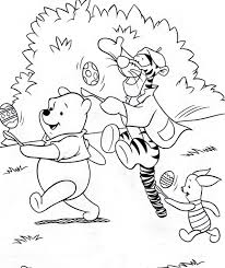 two easter colouring pictures of disney u0027s winnie the pooh and