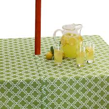 Tablecloth For Umbrella Patio Table by Pretty And Practical Outdoor Tablecloths