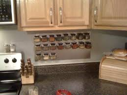 reclaimed wood wall accent plus step shaped hanging spice racks