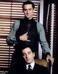 Al Pacino and Robert DiNiro on the sets of 'The Godfather II'