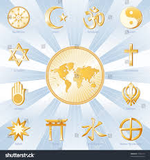 Religions Of The World Map by Religions Faiths World Map Buddhism Islam Stock Illustration