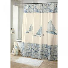 Lighthouse Bathroom Decor by Nautical Themes Bathroom Decor With Nautical Shower Curtains And