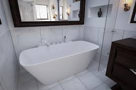 Stone Baths Aquatica Arabella Wall Back To Wall Solid Surface Bathtub