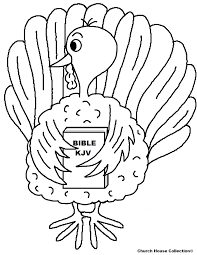 turkey holding bible coloring page