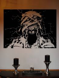 halloween room rolls ebay iron maiden eddie powerslave metal music vinyl wall sticker