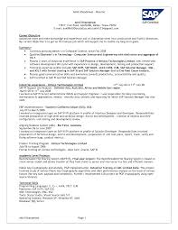 On Campus Job Resume by Resume Sap Mm Resume