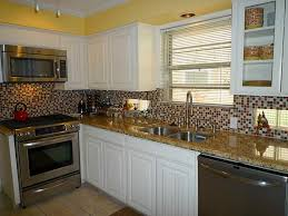 Mosaic Tiles For Kitchen Backsplash Kitchen Cool Picture Of Kitchen Decoration Using Light Brown