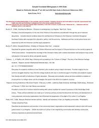 Sample Annotated Bibliography Template Cover Letter Templates