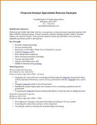 financial analyst resume examples   Financial Statement Form   financial analyst resume examples