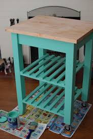 ikea kitchen cart painted aqua renovations and house things