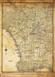 Grand Park Los Angeles Map by This A Reproduction Of A 1944 Street Map Of La The Map Includes