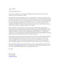 Resume Format Nursing Job by Cover Sample Nursing Cover Letter For Resume