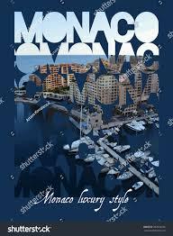 vector illustration monaco luxurious style vector stock vector