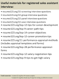Top   registered sales assistant resume samples SlideShare         Useful materials for registered sales assistant